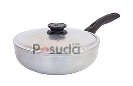 Алюминиевая сковорода глубокая Блеск Биол с утолщенным дном 22 см 2209БК