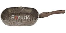 Сковорода-гриль Биол Гранит браун со съемной ручкой 26 см 26143П, фото 2