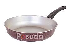 Сковорода с внешним декоративным покрытием алюминиевая Биол 22 см А223Д, фото 3