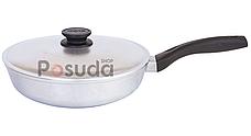 Сковорода высокая алюминиевая Блеск Биол с утолщенным дном 26 см 2607БК, фото 2