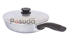 Сковорода высокая алюминиевая Блеск Биол с утолщенным дном 26 см 2607БК, фото 3