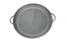 Чугунная сковорода гриль круглая с двумя литыми ручками 20 см Ситон Г200, фото 3