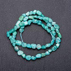 Намистини з натурального каменю Амазоніт зелений галтовка d-5мм L-40см