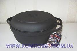 Кастрюля чугунная с крышкой сковородой Ситон 4,0 л К4чс