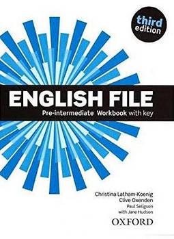 English File third edition Pre-Intermediate Workbook with Key