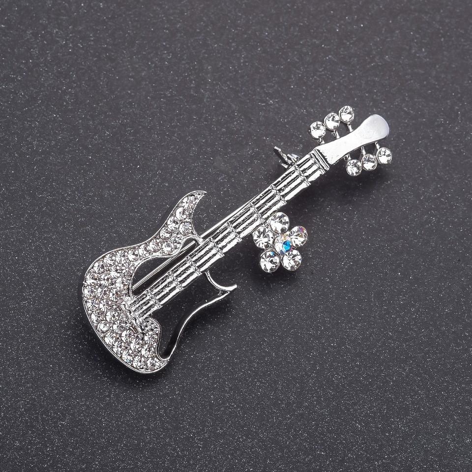 Брошь Гитара электро 20х58мм