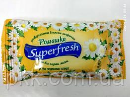 Вологі серветки Super Fresh Ромашка не містять спирт15 шт