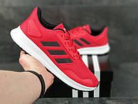 Мужские кроссовки красно-белые летние сетка, подошва пенка, фото 1