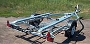 Оцинкованный одноосный прицеп для перевозки лодок до 5 м  Кияшко, фото 4