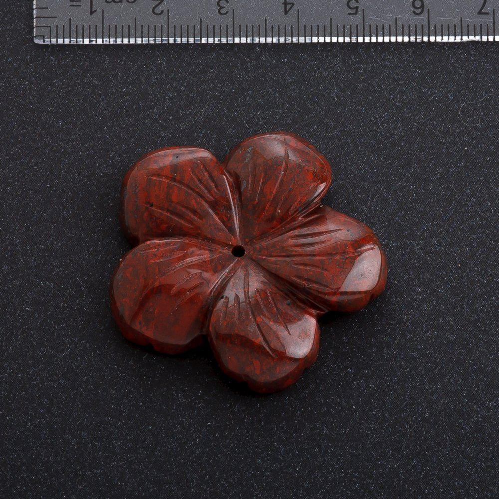 Фурнитура Цветок натуральный камень d-4,1 см Яшма