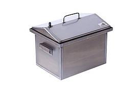 Коптильня горячего копчения маленькая Домик 2 мм 400х300х310 h-012