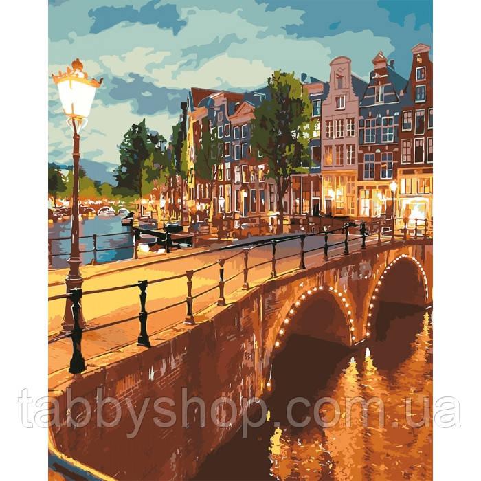 Картина по номерам Идейка - Вечерний город