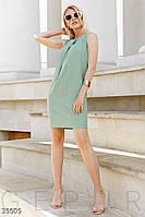 Прямое платье мини на лето мятное