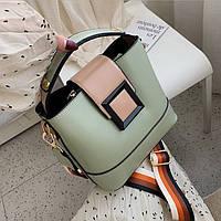 Женская сумка с широким ремнем Teslo квадратная мешок