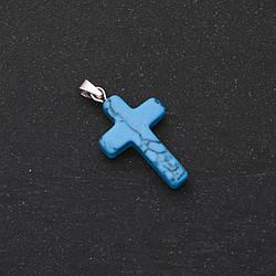 Кулон Хрест Бірюза 18х27мм