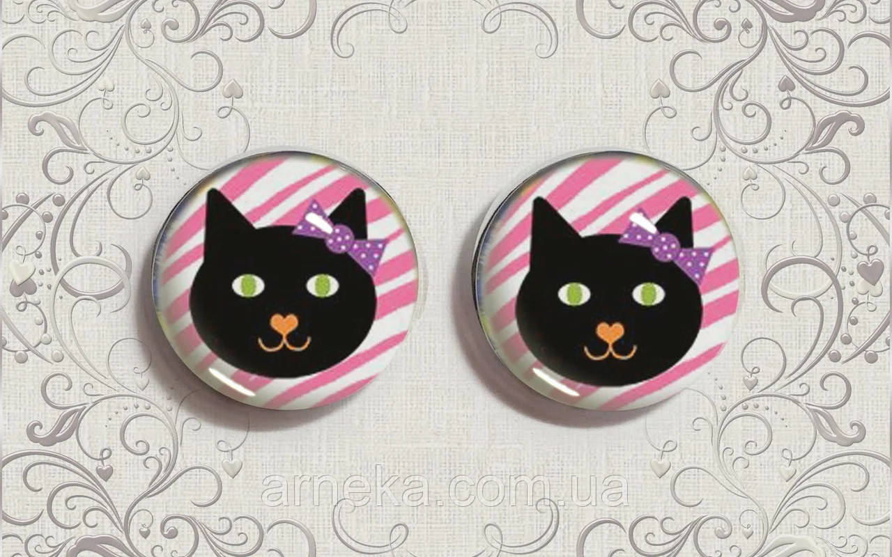 Кабошон Черная кошка
