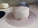 Шляпа соломенная взрослая, фото 2