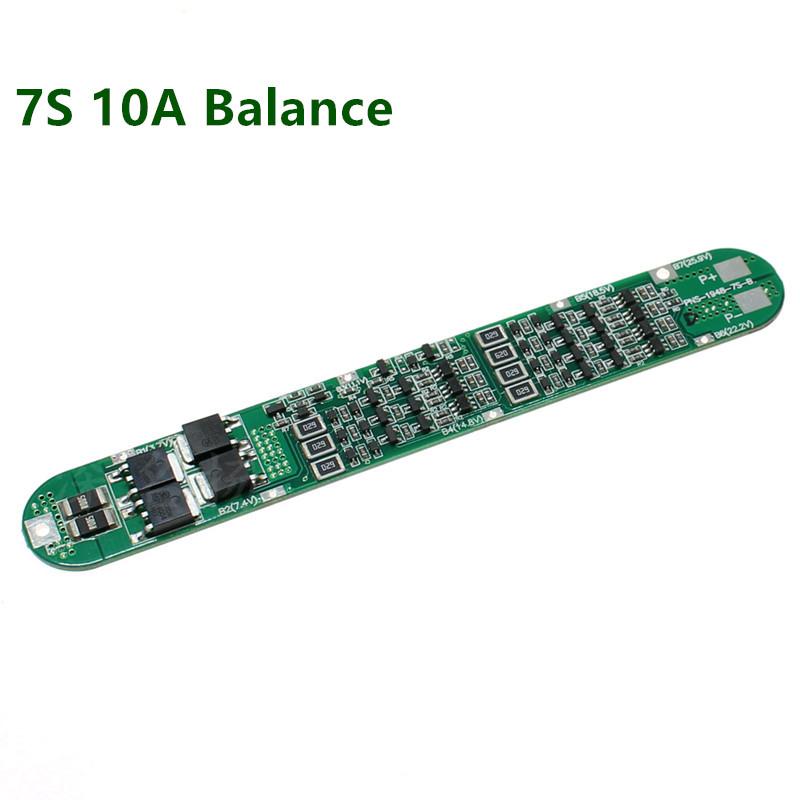 BMS 7S 10A 26V Контроллер заряда/разряда с самовосстановлением (балансир) Li-Ion 18650