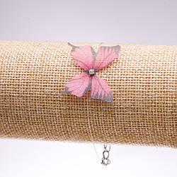 Браслет на невидимій силіконової волосіні Метелик