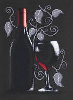 B2220 Бутылка с вином. Набор для вышивания крестом