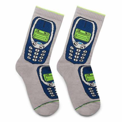 """Шкарпетки Дід Носкарь чоловічі 41-45 """"Nokia"""" сірі, фото 2"""