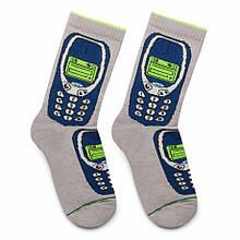 """Шкарпетки Дід Носкарь чоловічі 41-45 """"Nokia"""" сірі"""