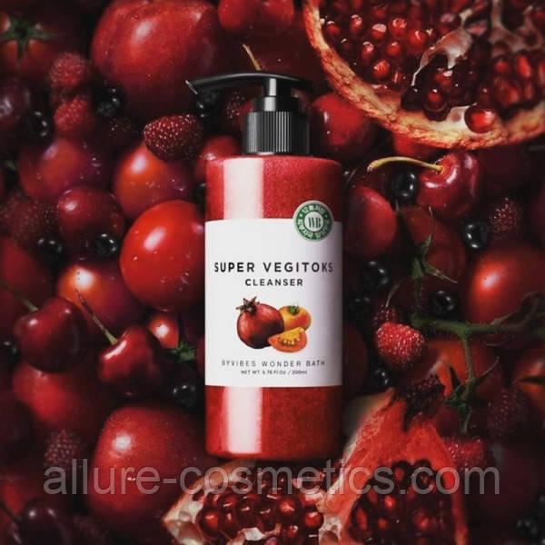 Освітлюючий детокс-гель Wonder Bath Super Vegitoks Cleanser Red 300мл