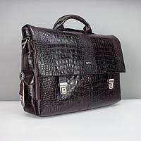 Портфель кожаный мужской классический цвета Desisan 1315-19, фото 1