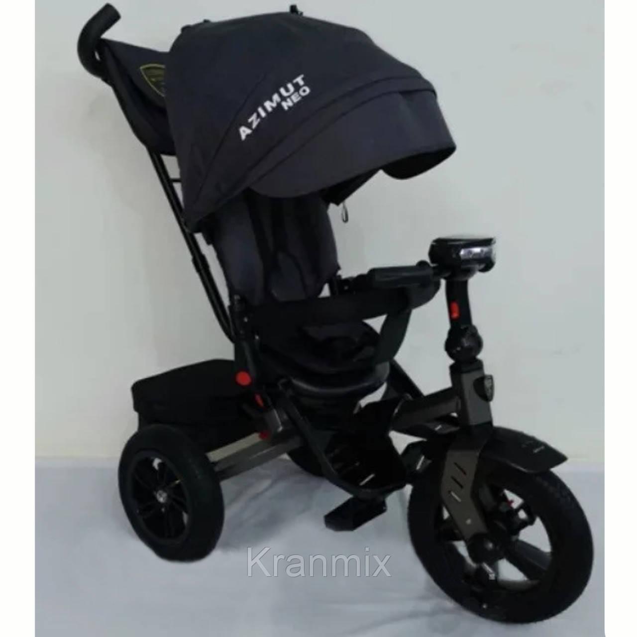 Детский трехколесный велосипед Azimut Crosser T-400 AZIMUТ NEO— трешка ЧЕРНЫЙ