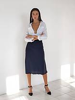 Шелковая юбка с резинкой на талии, длиной по щиколотку (42-48), фото 2