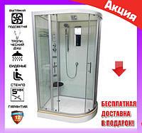 Гидромассажная душевая кабина 120*80 см Veronis BN-5-120 L GR левосторонний передние стекла тонированные