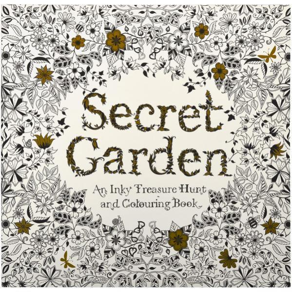 Раскраска 25*25 см Secret Garden 12л