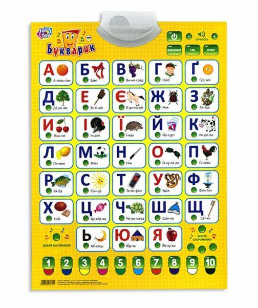 """Плакат звуковой обучающий PlaySmart """"Букварик"""" 7031 укр."""