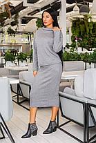 Костюм женский с юбкой миди из тёплой ангоры супер качества (44-54), фото 2