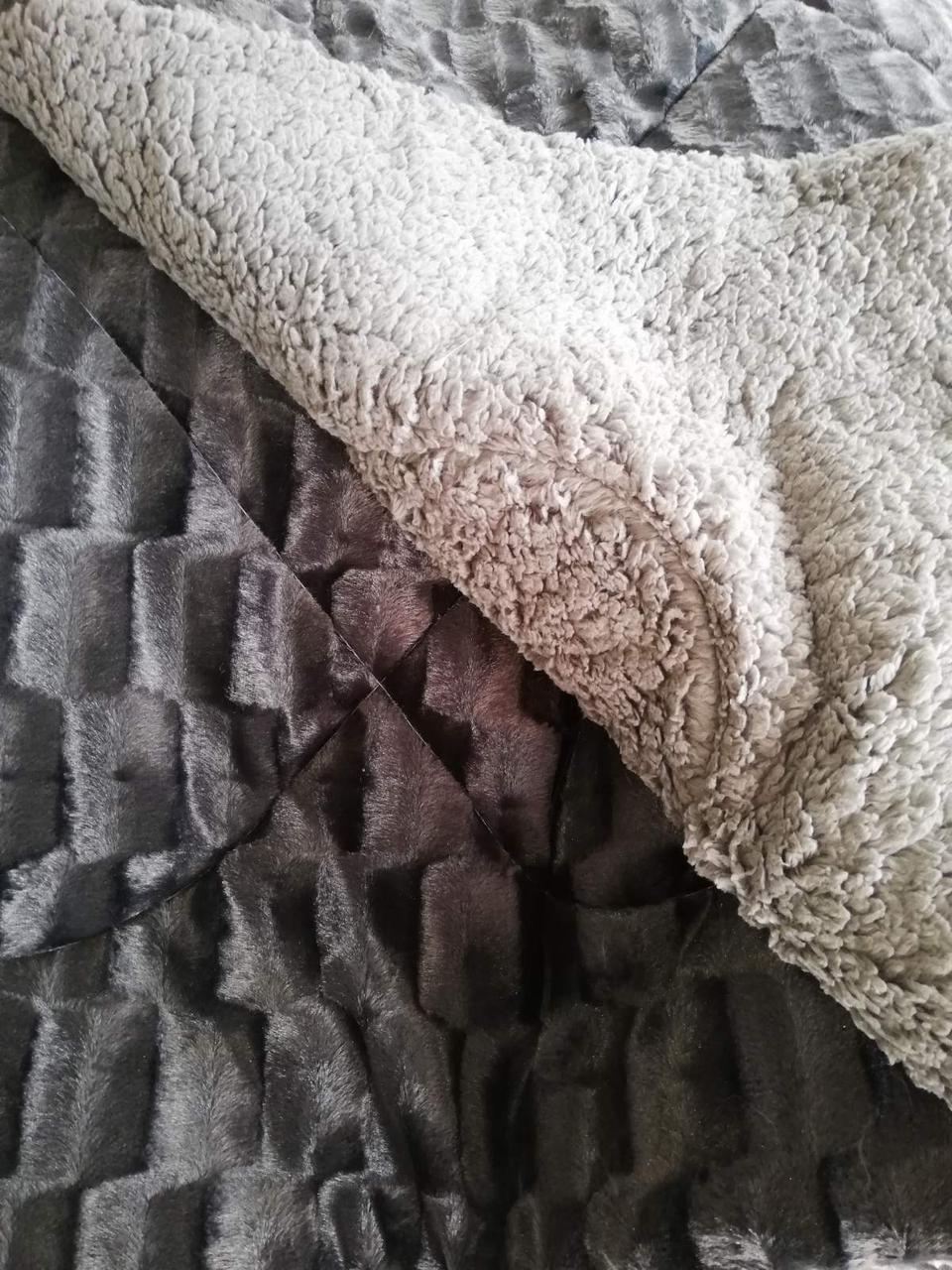 Одеяло покрывало  норка с мехом 200*220