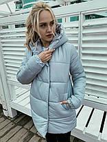 "Куртка-пуховичёк ""Зефирка"" на молнии и кнопках с капюшоном, фото 2"