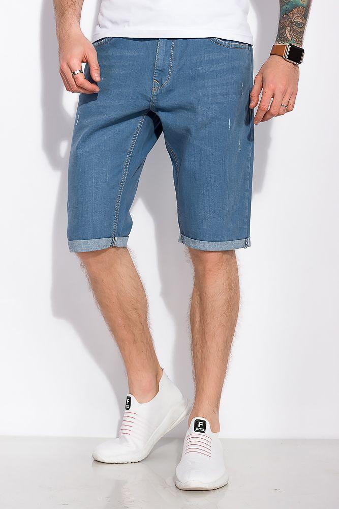 Мужские джинсовые шорты с подкатами, летние, повседневные (30-42)