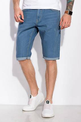 Мужские джинсовые шорты с подкатами, летние, повседневные (30-42), фото 2