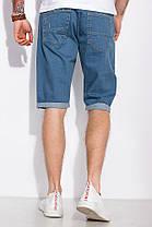 Мужские джинсовые шорты с подкатами, летние, повседневные (30-42), фото 3
