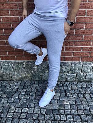 Мужские спортивные штаны однотон с манжетом Турция (С-ХЛ), фото 2