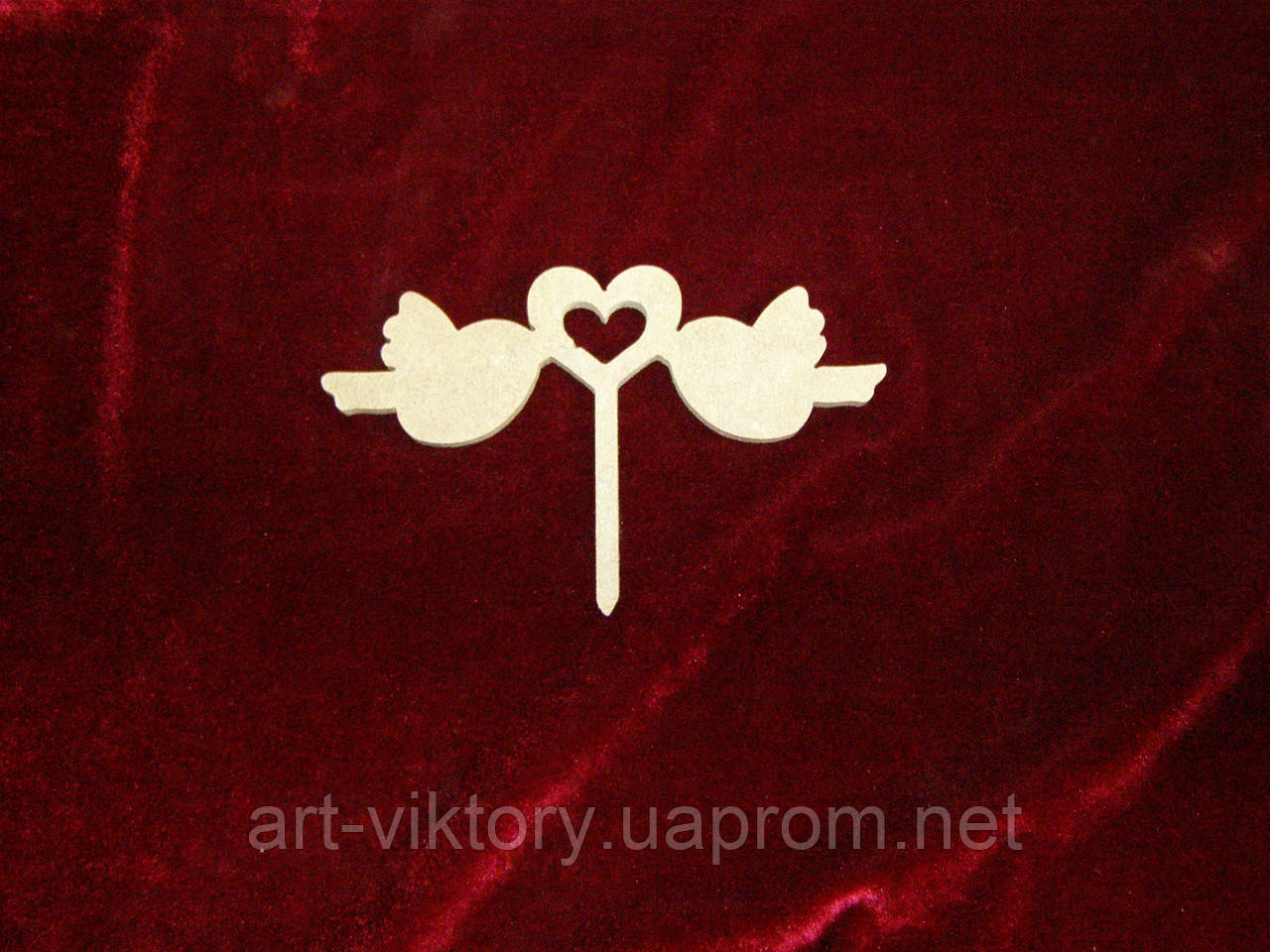Топпер Пташки з сердечком, прикраси для тортів і капкейків