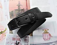 Женский узкий кожаный ремень Total Black
