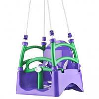 Качеля детская подвесная фиолетовая ТМ Долоні
