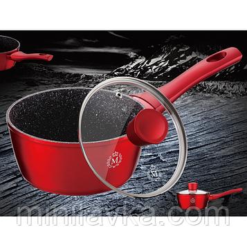 Ковш кухонный Meisterklasse MK-1029 16 см 1.1 л красный с антипригарным мраморным покрытием