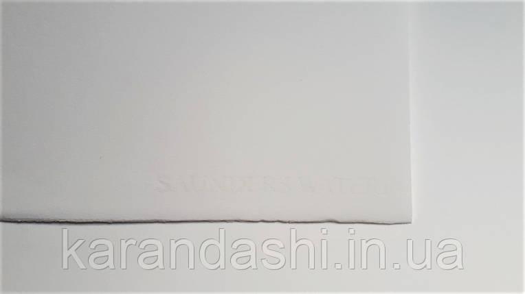 Бумага St.Cuthberts Mill Saunders Waterford HP B2 56*76 425г/кв.м, мелкое зерно, белая 100% хлопок, фото 2
