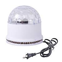 Диско лампа шар BT Белый, фото 1