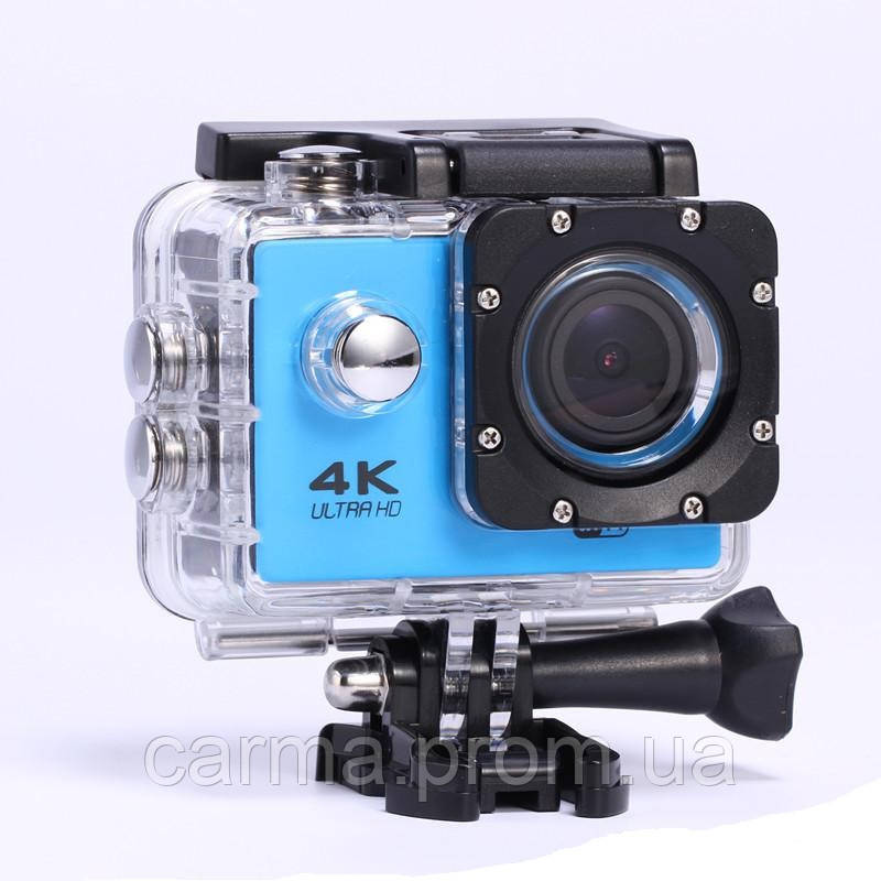 Экшн камера D-800 Черный/Голубой
