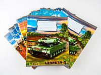 Комплект зошитів Міцар Ц262049У скоба 24 арк клітинка Серія Танки 20 шт 234537, КОД: 902525