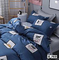 Полуторний комплект постільної білизни Хаскі (бязь) (Комплект постельного белья полуторний Хаски (бязь))