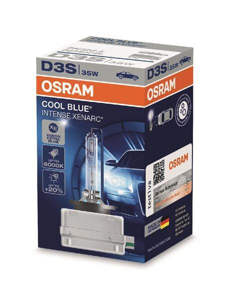 Лампа ксенона D3S Osram Xenarc Cool Blue Intense НА 20% БОЛЬШЕ СВЕТА НА ДОРОГЕ (МАКСИМАЛЬНО БЕЛЫЙ СВЕТ)